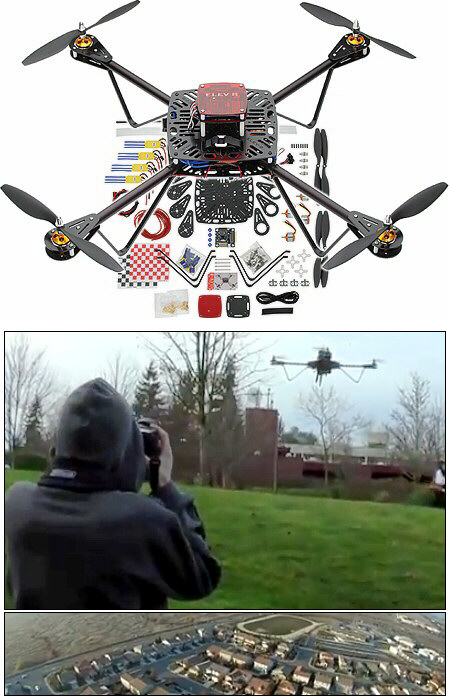Kit para construir un Quadricopter ELEV-8 80000